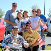 Korean War era veteran Tom Vassallo celebrates his 88th birthday today with family members, from left: son-in-law, Michael Schwarz, great-granddaughter Ella Schwarz, daughter Barbara Schwarz, granddaughters Maya and Carissa Schwarz and Carissa's boyfriend Shane Daniels.