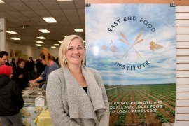 Kate Fullam of East End Food Institute, the new sponsor and organizer of the indoor winter market in Riverhead.