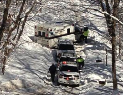 2013 0210 ambulance stuck