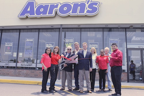 Aaron's rent-to-own furniture store celebrates ribbon ...