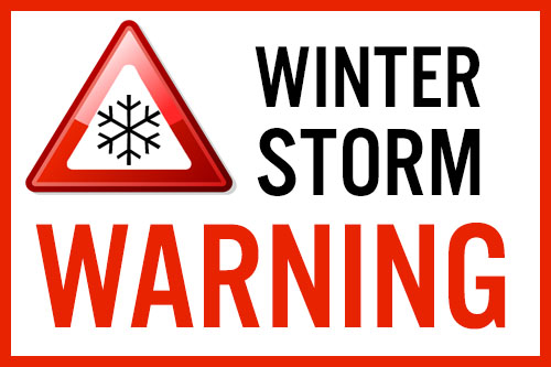 Winter Storm Warning Issued: 4 To 8 Inches Of Snow