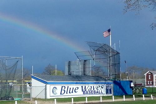 Rainbow over Riverhead last week. (Photo by