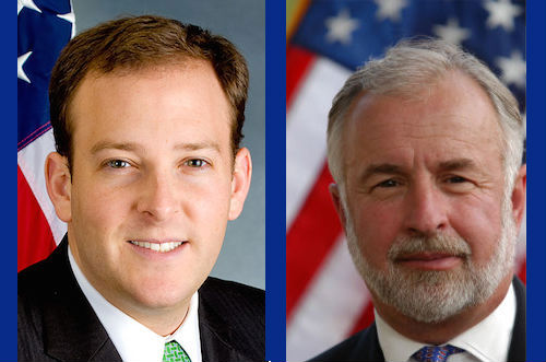 Challenger Lee Zeldin will face off against incumbent congressman Tim Bishop on Oct. 8 at Riverhead Polish Hall in a debate sponsored by RiverheadLOCAL.