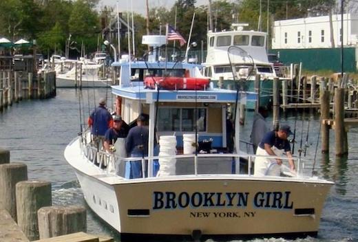 "The Brooklyn Girl leaving ""Orient by the Sea"" Marina last Saturday. Photo: Barbara Holmes"