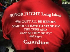 The back of the T-shirt the guardians wear bears this quote from Will ROgersCourtesy photo: Mike Davis