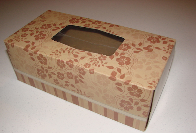 Image result for empty tissue box