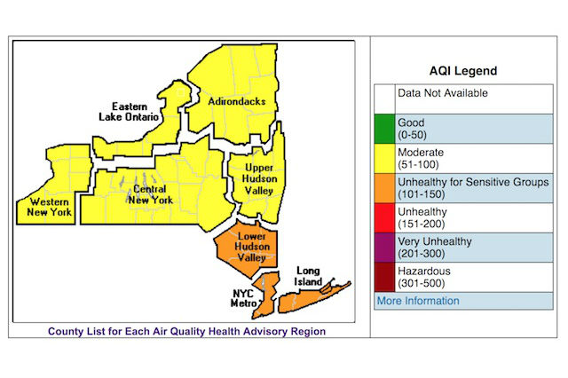 Warm weather woes: 'Code orange' air quality may pose health risks