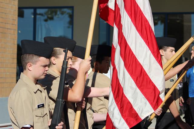NJROTC cadets.