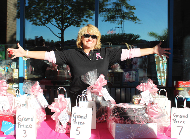 Melanie McEvoy, vice president of NFBH, at the grand prize raffle table.