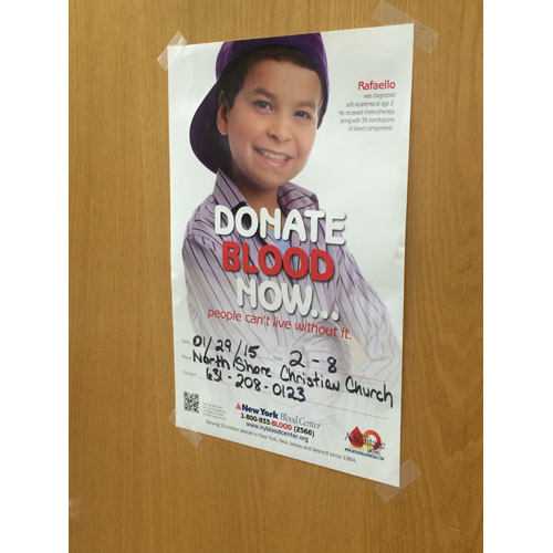 A blood drive is being held at North Shore Christian Church on Thursday. (Courtesy photo)