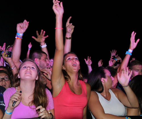 CARRIE MILLER PHOTO | The crowd dances along to the Aug. 19 concert at Martha Clara Vineyards.