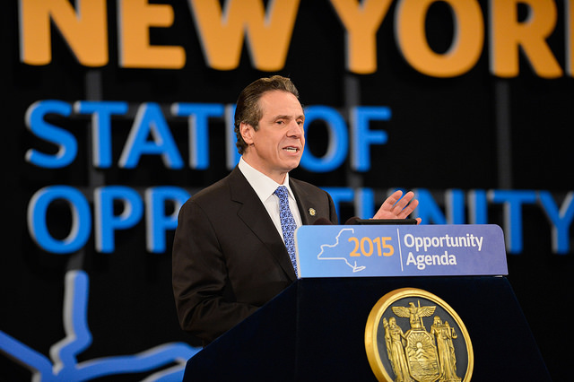 Governor Cuomo giving his State of the State address the Empire State Plaza Convention Center in Albany Jan. 21. (Credit: Courtesy Flickr photo)
