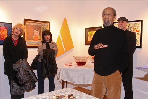 BARBARAELLEN KOCH PHOTO  |  Artist Frank Wimberley juried the show Friday night at East End Arts.