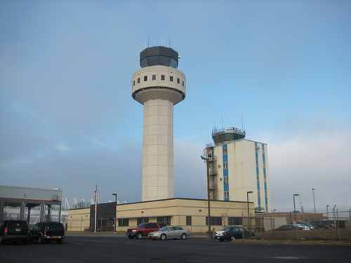 MICHAEL WHITE FILE PHOTO | An FAA control tower currently at MacArthur Airport in Islip Town.
