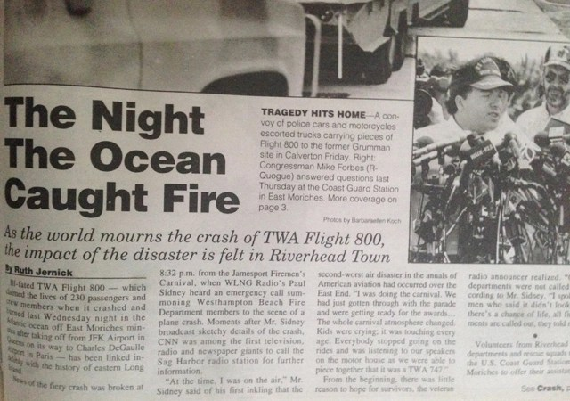 The cover story of the News-Review after the July 1996 crash.