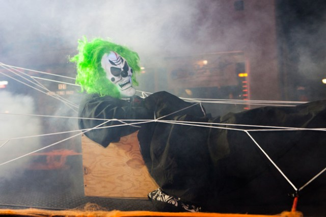 There were plenty of frights in Riverhead for the start of the Edgar Allen Poe Festival. (Credit: Katharine Schroeder)