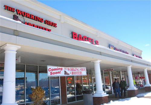 BARBARAELLEN KOCH PHOTO | The Working Shoe & Bootery, a purpose-built footwear store, is opening Feb. 22 in Riverhead.