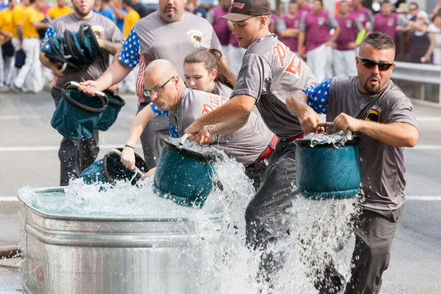 Cutchogue Panthers in bucket brigade competition.