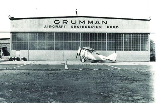 Grumman retiree Ted Kole is hoping to build a visitors center at Grumman Memorial Park in the likeness of the old aircraft hangar. Pictured is the hangar that once stood in Bethpage.