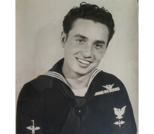 George Kurovics enlisted with the U.S. Navy in 1944 at just 16 years old. (Credit: courtesy photo)