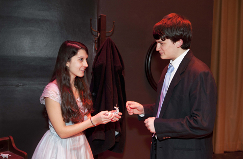 McGann-Mercy students in a 2012 performance of the 'Glass Menagerie.'