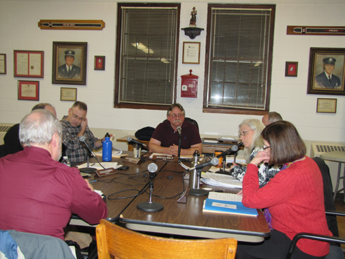 The Greenport Village board discussed video conferencing Thursday