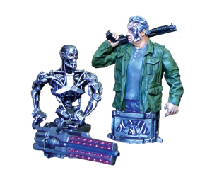 Terminator Genisys Guardian 2017 and T-800 (combined) from Terminator Genisys the Miniatures Game by River Horse