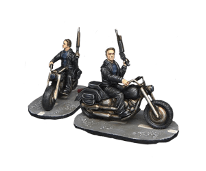 'Pops' on motorbike (resin) for Terminator Genisys the Miniatures Game by River Horse