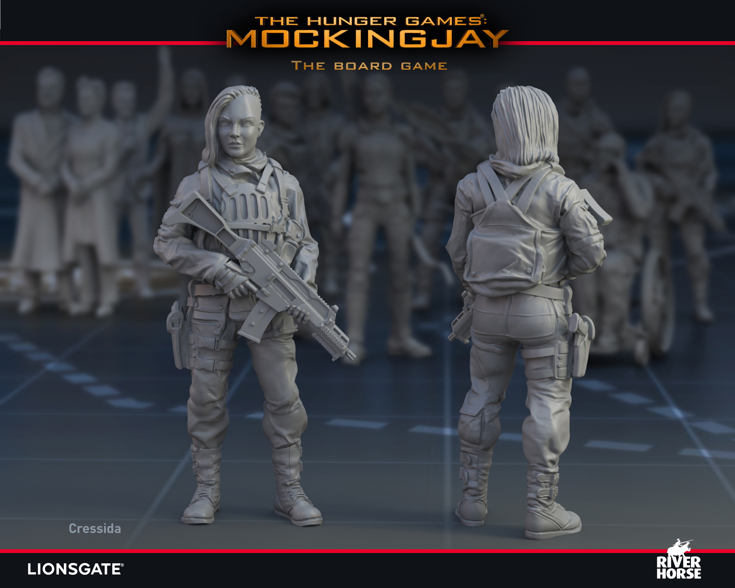 Render of Cressida for The Hunger Games: Mockingjay - The Board Game by River Horse