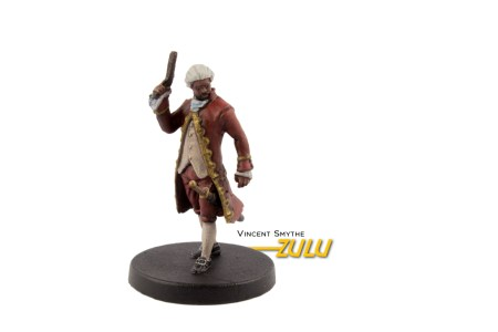Painted example of Zulu (ancient) from Highlander The Board Game by River Horse