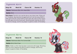 Creature Feature: Kirin/Nirik - Tails of Equestria by River Horse Games