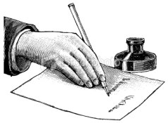 stock-photo-8662795-vintage-clip-art-and-illustrations-writing-on-a-desk
