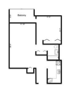 Common 1 Bedroom Floor Plan