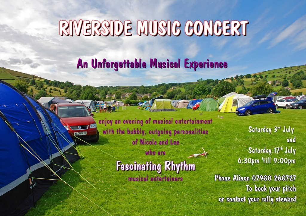 Riverside Campsite - Riverside Music Concert poster