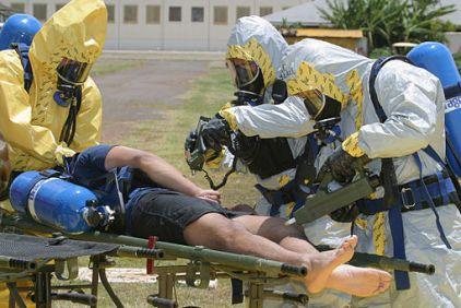 Simulating an anthrax based, bio-terrorism attack. Photo Credit: scientificamerican.com