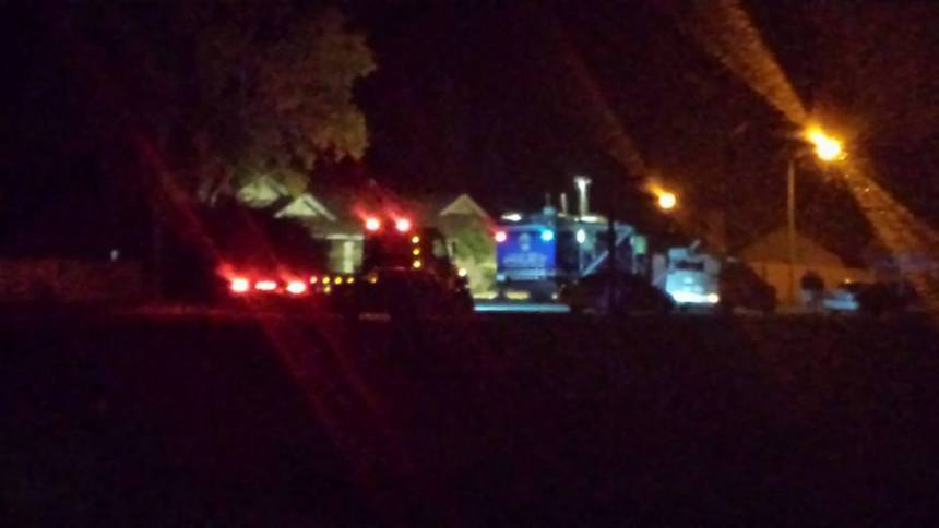 A tow truck arrives at the Bariloche Ln residence. Photo Credit: Laurie Cain