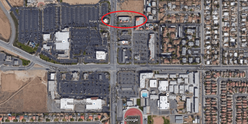 Area where robbery occurred. Click Image To Enlarge Map.