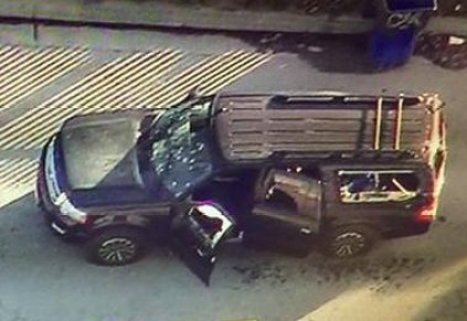 Still Image From Live TV Showing Suspect Vehicle