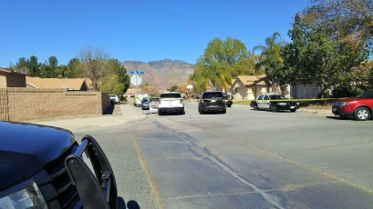 The area surrounding where the shooting occurred remained cordoned off as of 1:50 p.m. Miguel Shannon photo
