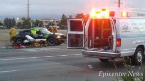 Firefighters and paramedics were on scene providing medical aid to the injured driver of the Charger.Miguel Shannon / Epicenter News photo