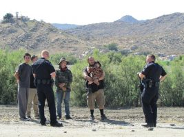 Several teens and a young adult with a child were detained following the reported incident. John Strangis photo