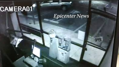 CCTV surveillance footage shows the moment before the hit and run occurred.