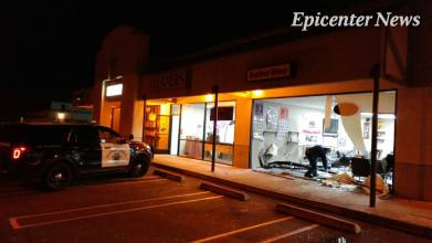 CHP officers investigated the hit and run while Riverside County Sheriffs deputies assisted in searching for an SUV involved in the accident. William Hayes / Epicenter News photo