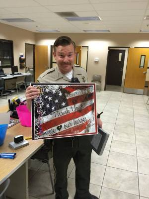 Law enforcement officers from around the entire county have been enjoying receiving so many tangible signs of appreciation from businesses and citizens.