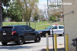 Numerous Hemet PD officers converged on the Diamond Inn to take the five suspects into custody. Robert Carter photo