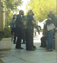 Officials wearing breathing apparatus were seen entering the building. Chelsea S. photo
