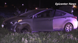 The stolen car sustained major damage during the pursuit, Miguel Shannon photo