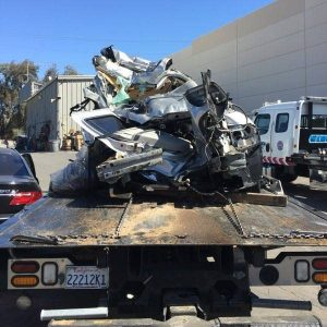The Chevrolet was unrecognizable after the accident. Tommy Voegele photo