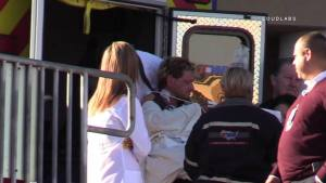 The burn victim who caused the HazMat emergency was transferred to a local burn unit for treatment. William Hayes photo