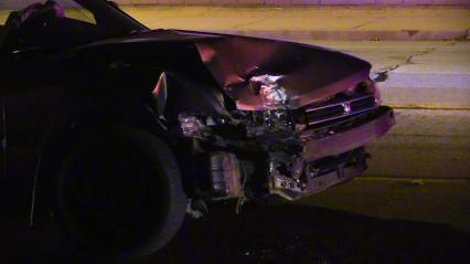 The fourth car struck sustained major front-end damage. William Hayes photo